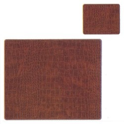 Texture Range - Croc Set of 4 placemats, 30 x 22cm, tan