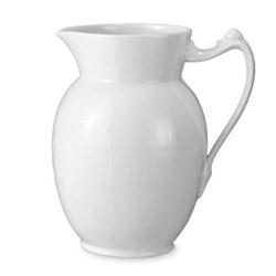 White Fluted Jug, 1.7 litre