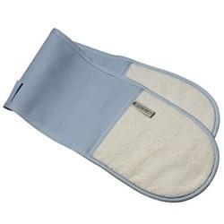Textiles Double oven glove, coastal blue