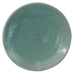 Tourron Pair of dinner plates, 26cm, jade