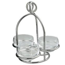 Latitude 3 dish snack server, small, silver plate