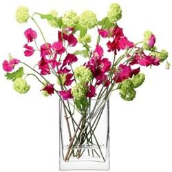 Rectangular bunch vase 22cm