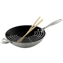 Wok with rack and sticks 32cm