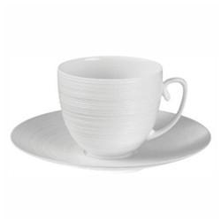 Hemisphere Cappuccino saucer, white