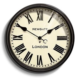 Battersby Wall clock, 50 x 50 x 8cm, black metal