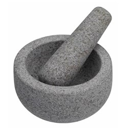 Pestle and mortar, 12cm, light granite