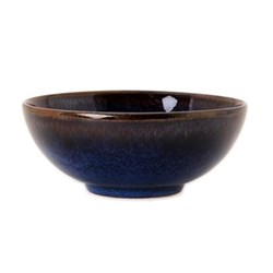 Tourron Pair of bowls, 14cm, indigo