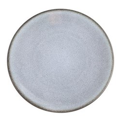 Tourron Pair of dinner plates, 26cm, gris ecorce