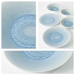 Vuelta Pair of teacups and saucers, 24cl, ocean blue