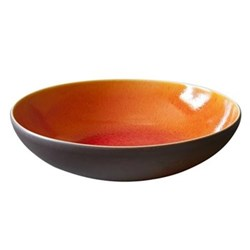 Tourron Pair of pasta plates, 23.7cm, orange