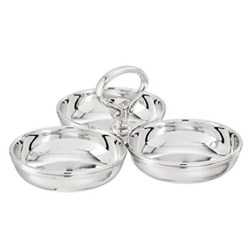 Relish dish, 3 compartment 30cl