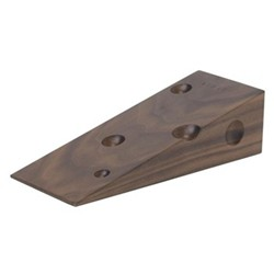 Cheese doorstop, walnut