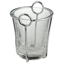 Latitude Ice bucket, silver plate