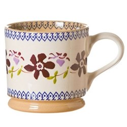 Set of 4 large mugs H9cm