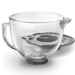 Glass bowl with lid for mixer 4.8 litre