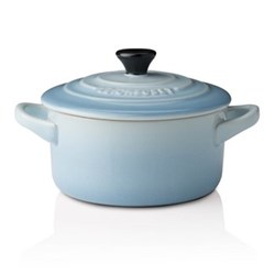Stoneware Petite round casserole, 9 x 5cm - 25cl, coastal blue