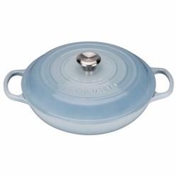 Signature Cast Iron Shallow casserole, 26 x 5cm - 2 litre, coastal blue