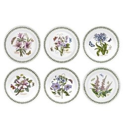 Botanic Garden Set of 6 dinner plates, 28cm
