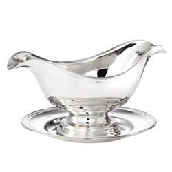 Sauce boat with oval stand 42cl