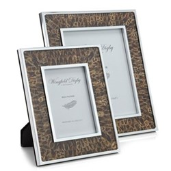 "Feather and Glass Photograph frame, 8 x 10"", hen pheasant"