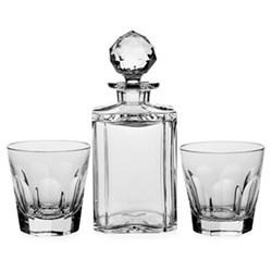 Decanter and 2 double old fashioned tumblers in box