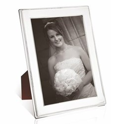 """W Series - Rope Photograph frame, 8 x 6"""", sterling silver with mahogany finish back"""