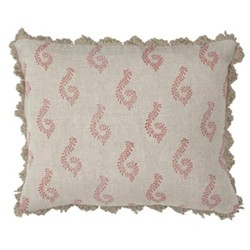 Shalini Linen cushion, 45 x 35cm, red