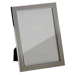 """Enamel Range Photograph frame, 5 x 7"""" with 15mm border, taupe with silver plate"""