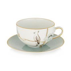 Round teacup and saucer 20cl