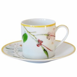 Jardin Indien Coffee cup and saucer, 8cl