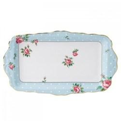 Polka Blue - Vintage Sandwich tray