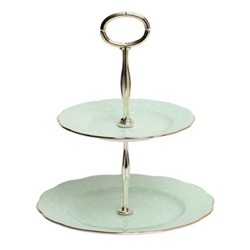 2 tier cake stand boxed