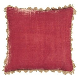 Velvet cushion, 45 x 45cm, rose