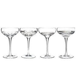 Mixology Set of 4 Champagne coupe, Clear