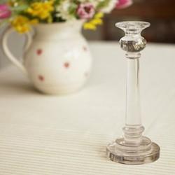 Candlestick, 24.5cm, glass