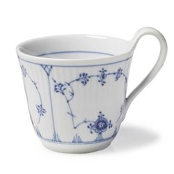 Blue Fluted Plain High handle breakfast cup