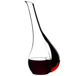 Black Tie - Smile Decanter, H36.5 x D16.5cm - 1.41 litre, black and red