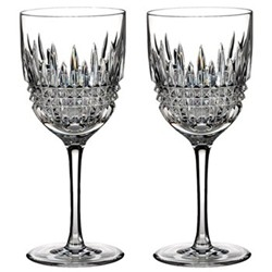Lismore Diamond Pair of red wine glasses
