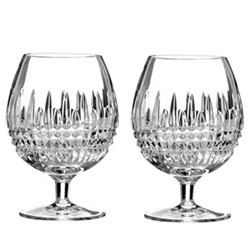 Lismore Diamond Pair of brandy glasses