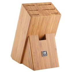 7 piece empty knife block 24 x 11.5 x 19.5cm