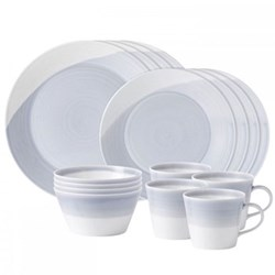 16 piece dinner set 4 x 28/23cm plates, cereal bowls and mugs
