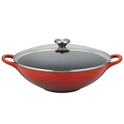 Wok with glass lid 32cm