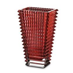 Eye Rectangular vase, 20cm, red