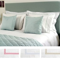 Puccini Pair of Oxford pillowcases, 50 x 75cm, torre cord on white