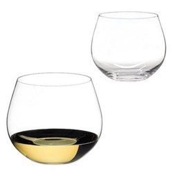 O Pair of chardonnay tumblers, H9.4 x D10.8cm - 58cl