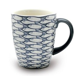 Sardine Run Set of 4 mugs, W12 x H10cm - 30cl