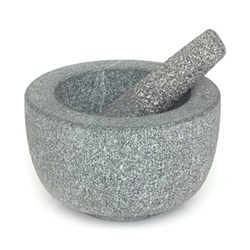 Pestle and mortar, 20.5 x 11 x 19.5cm, granite