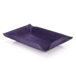 Valet tray, 21.5 x 15cm, violet ponyskin