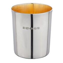 Beaker, 8.25cm, sterling silver with gilt inner