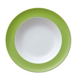 Sunny Day Deep plate, 23cm, apple green